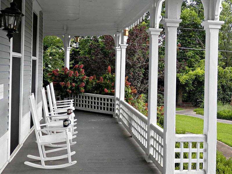 Front Porch Rockers | Americus Garden Inn Bed & Breakfast, Georgia