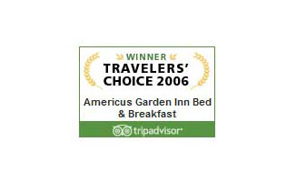 Tripadvisor 2006 Travelers' Choice | Americus Garden Inn near GSW
