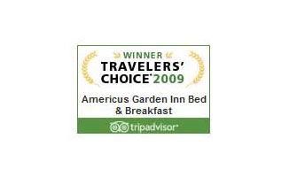Tripadvisor 2009 Travelers' Choice | Americus Garden Inn near GSW